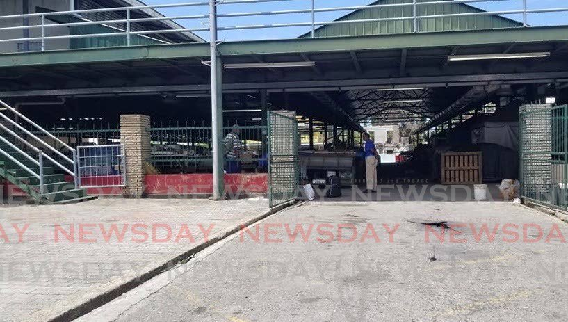 The entrance to the Point Fortin Market - Anthony Billy