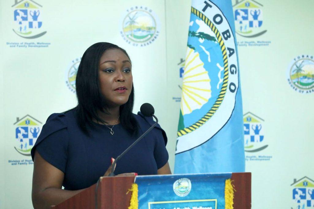 Health Secretary Tracy Davidson-Celestine gave an update on Thursday on the quarantining of TT citizens who returned home. PHOTO COURTESY THA  -