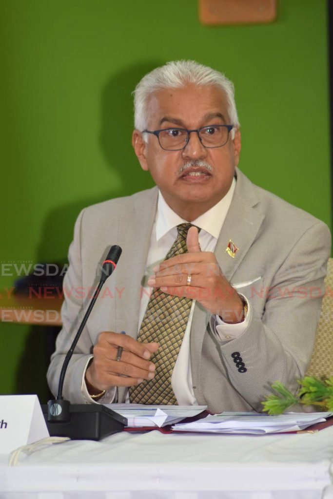Minister of Health Terrence Deyalsingh -