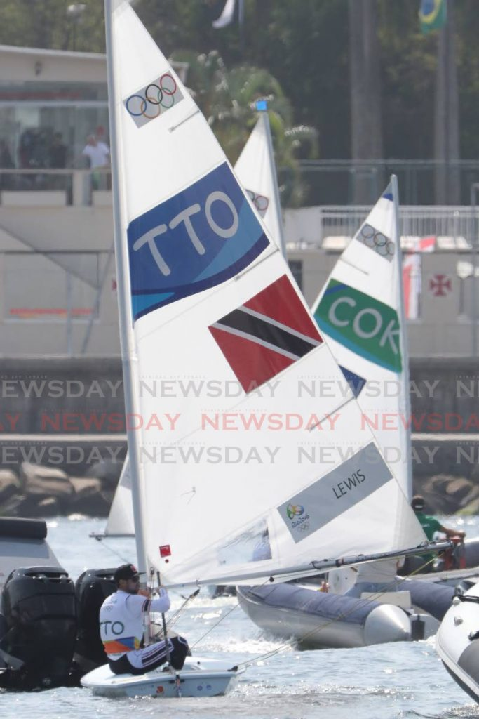In this 2016 file photo, TT's Andrew Lewis competes in the Men's Laser event as sailing got underway at the 2016 Olympics at Copacabana, Rio de Janeiro, Brazil. Lewis, who is also a motivational speaker, has often given his own stories of not sleeping on a win. - Allan V Crane
