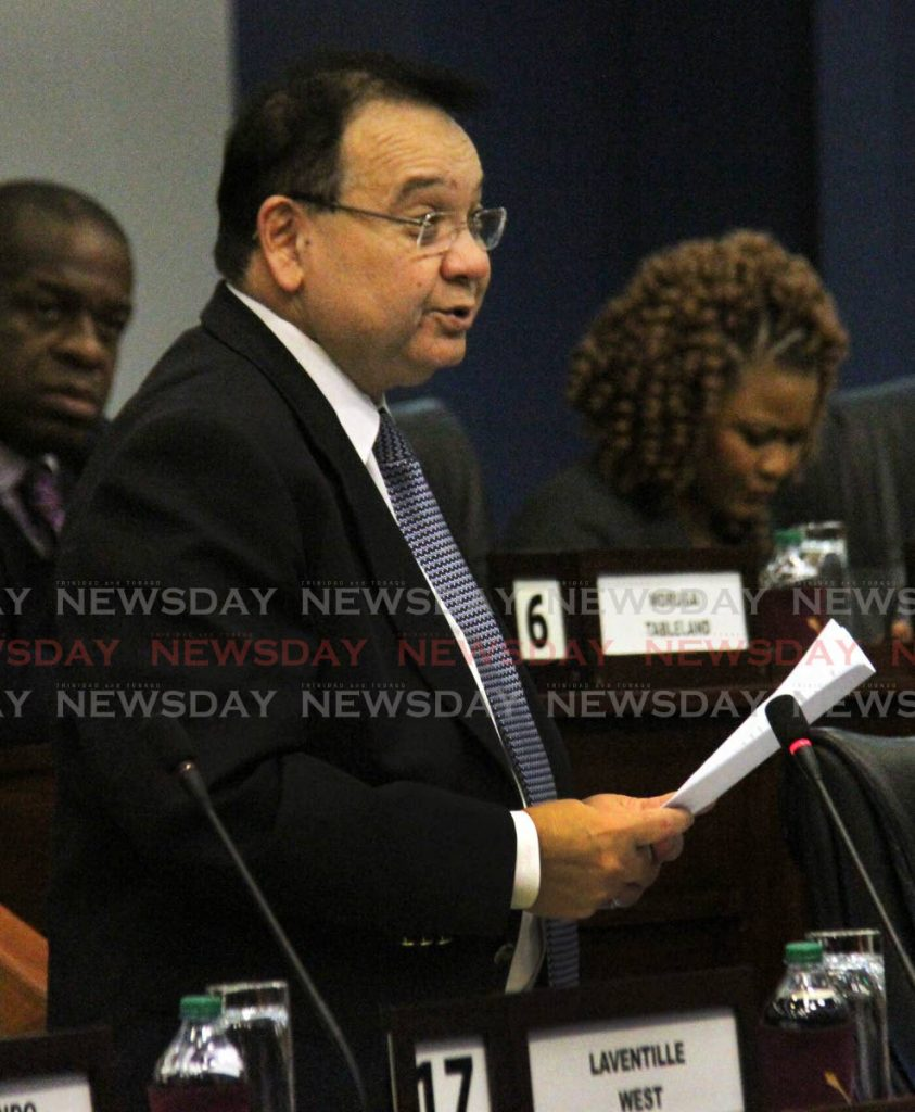 Energy Minister Franklin Khan in Parliament. File photo/Angelo Marcelle -
