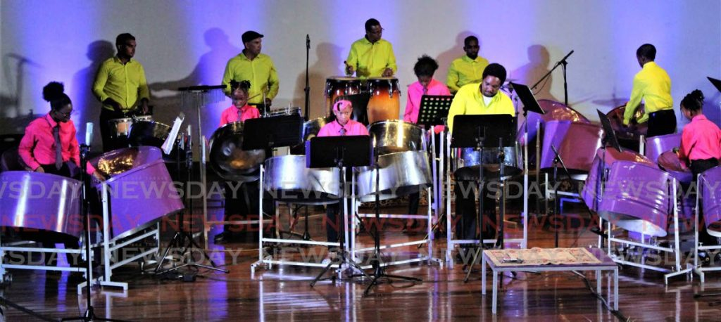 Flabej Now Ensemble performs at its concert titled The Living Years–From Classics to Calypso at Daaga Hall, University of the West Indies, St Augustine. - Gary Cardinez