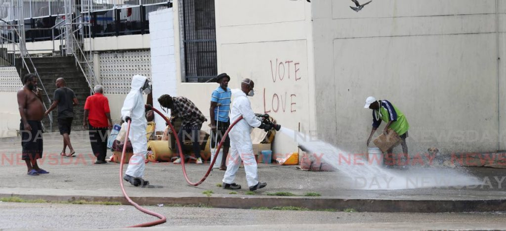 The Ministry of Social Development and Family Services and the Trinidad and Tobago Regiment cleaned, sanitized and built a temporary shelter to house the socially displaced during the country's fight against the spead of covid19 - SUREASH CHOLAI