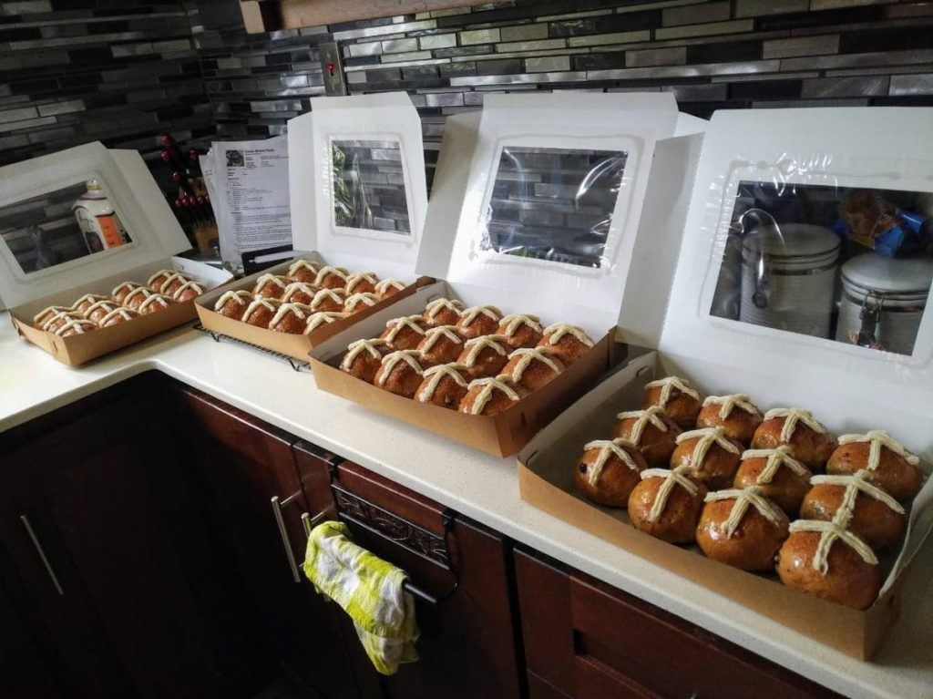 Lisa Williams' special hot cross buns, ready for customers. Photo courtesy Lisa Williams -