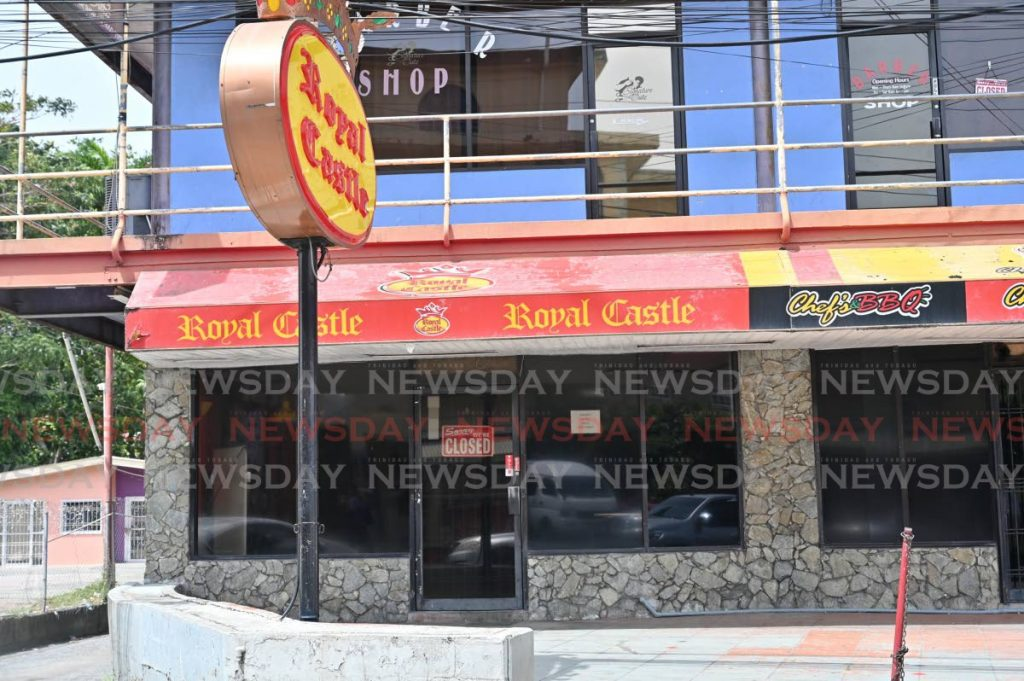 LOCKED UP: Royal Castle in Tobago, among hundreds of food outlets across the country, ordered closed until April 30 as the country deals with the covid19 pandemic.  - Leandro Noray