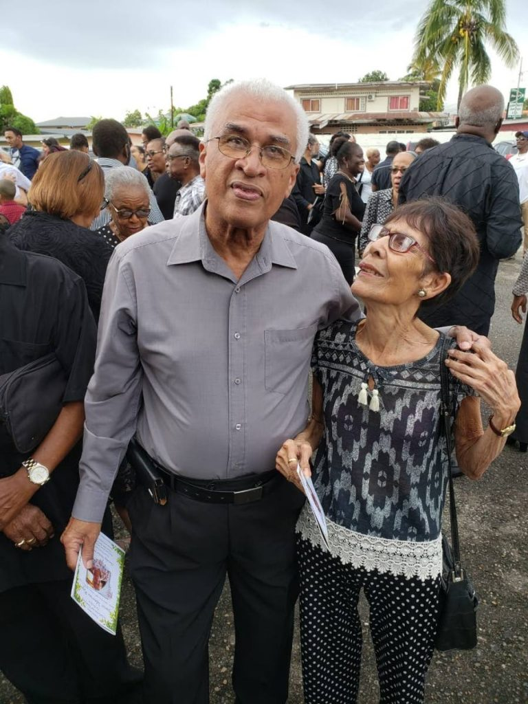 AT PEACE:  Media veteran Neil Giuseppi with actress and broadcaster Barbara Assoon at a function earlier this year. Assoon, 91, passed away on Wednesday. PHOTO COURTESY NEIL GIUSEPPI - Neil Giuseppi