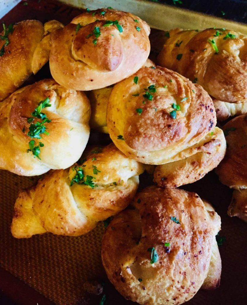 Cheesy garlic knots  -
