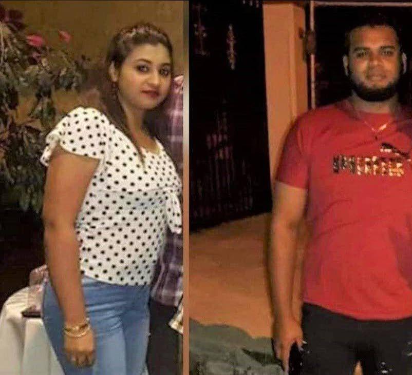 Siblings Vishanie and Vishal Chitbahal who were shot dead at Windsor Park in Couva last week Thursday.  -