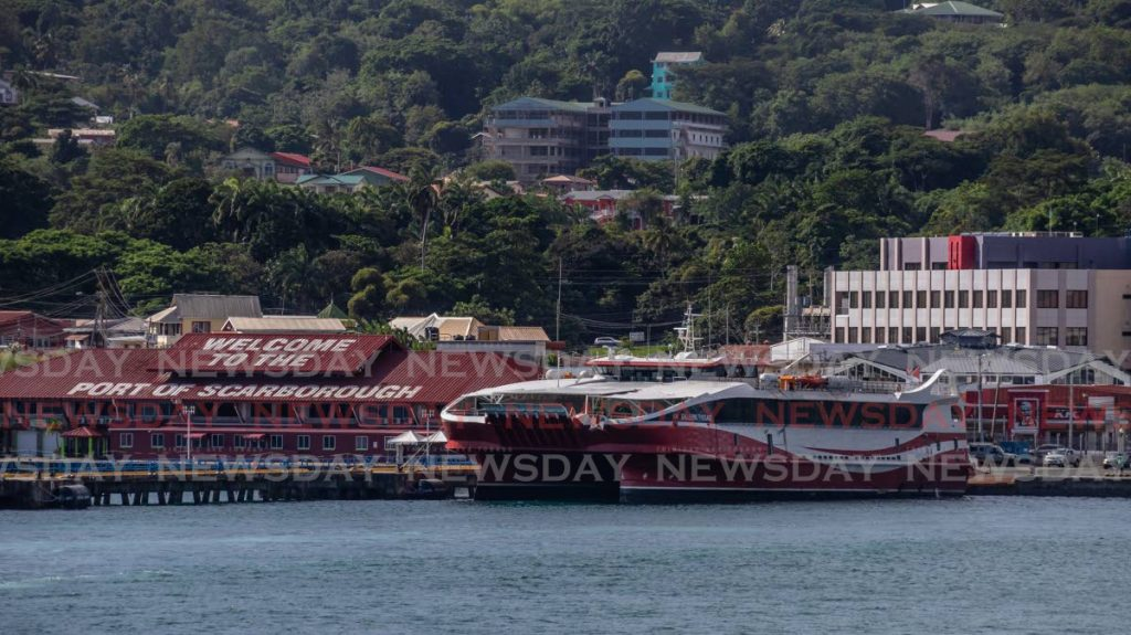 A 2019 photo of the interisland ferry, the Galleons Passage, docked at the port in Scarborough, Tobago. THA Chief Secretary Ancil Dennis has said visitors to Tobago from Trinidad has long played a role in keeping the island's tourism alive in the off season. - JEFF K MAYERS
