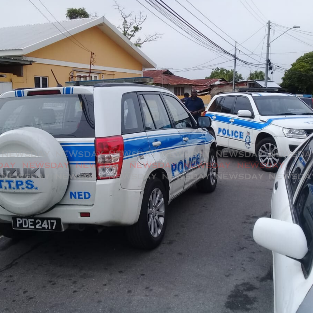 Police at the scene of a shootout in Morvant involving the Special Operations Response Team (SORT).