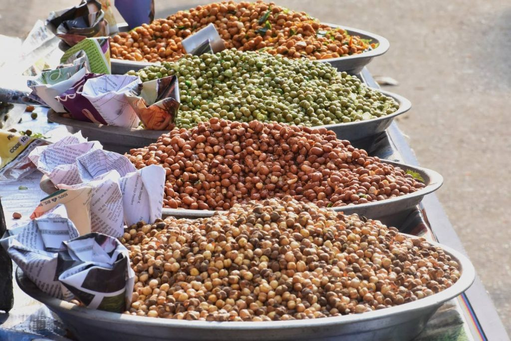 Plant sources of protein include peas and beans. -