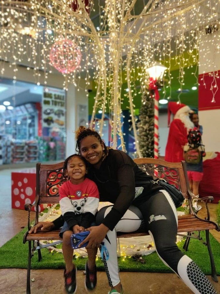Ayanna Russell and her son Richard -