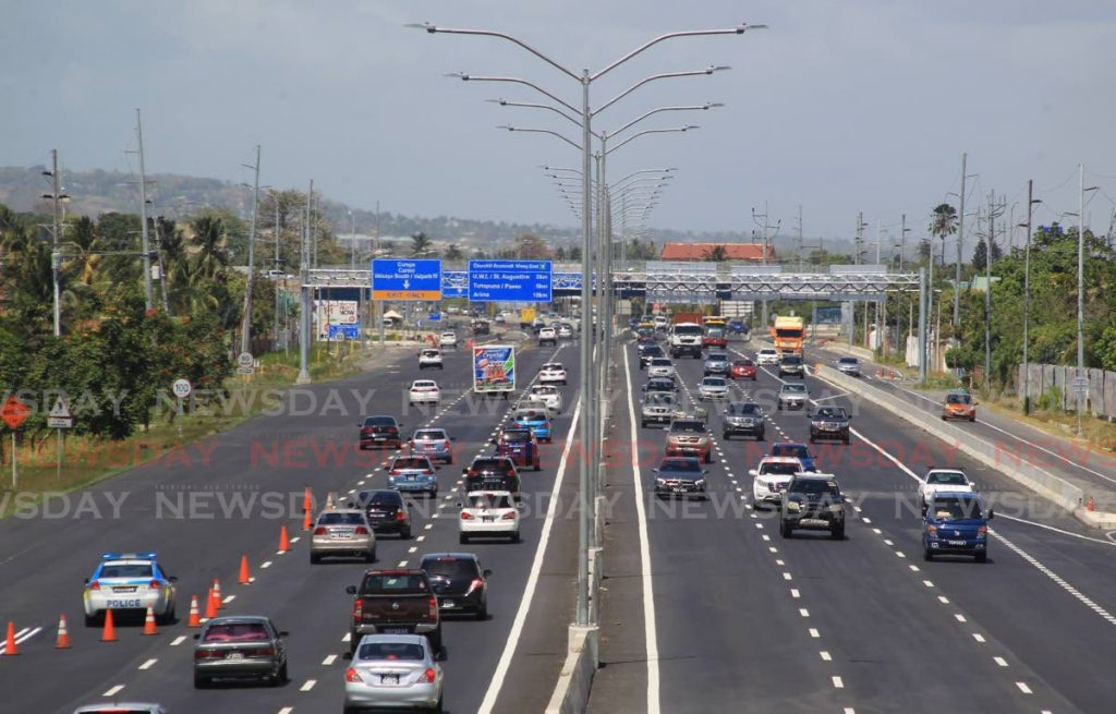 File photo of Churchill Roosevelt Highway in Valsayn.  PHOTO BY ROGER JACOB -