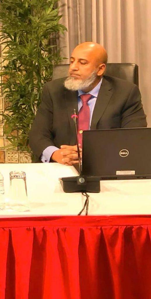 Dr Saed Rahaman at Friday's briefing. - Ministry of Communications