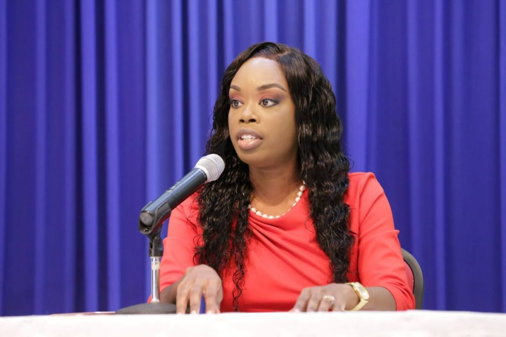 Assistant Secretary in the Division of Health, Wellness and Family Development Nadine Stewart-Phillips at a media briefing on Monday. PHOTO COURTESY THA  -