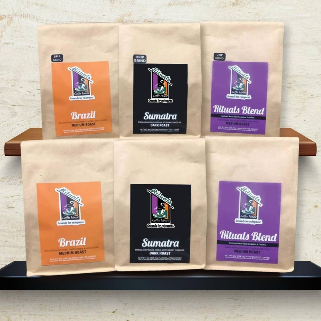 Rituals bags out its beans for customers to brew at home. -