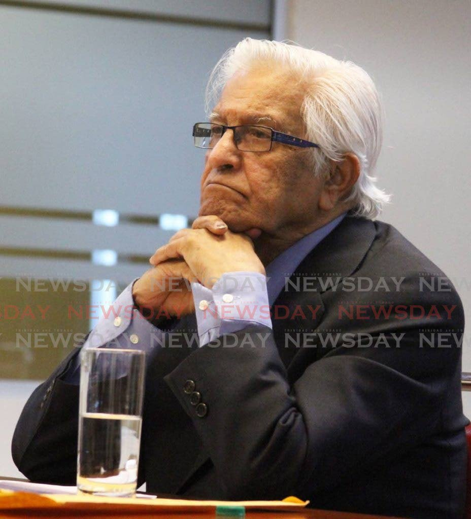 FORMER prime minister Basdeo Panday -