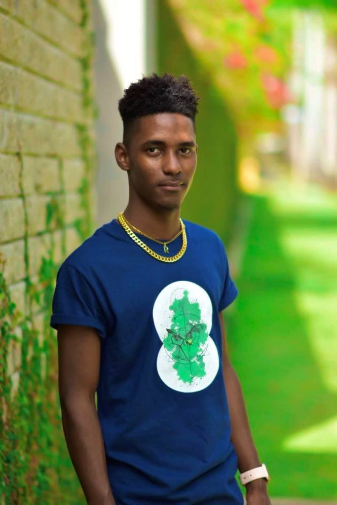 At 22, Ricardo Richards is the owner of local clothing brand Exotic Apparel. Here Richards dis palys the Owl Face from the   Earth Collection. Richards was inspired to create the collection to help raise awareness for climate change.  - Photo Courtesy Ricardo Richards