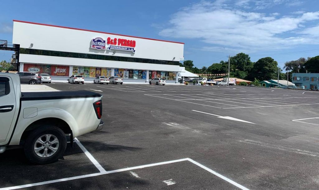 The carpark at S & S Persad supermarket in Mayaro where the event was scheduled to be held.  -