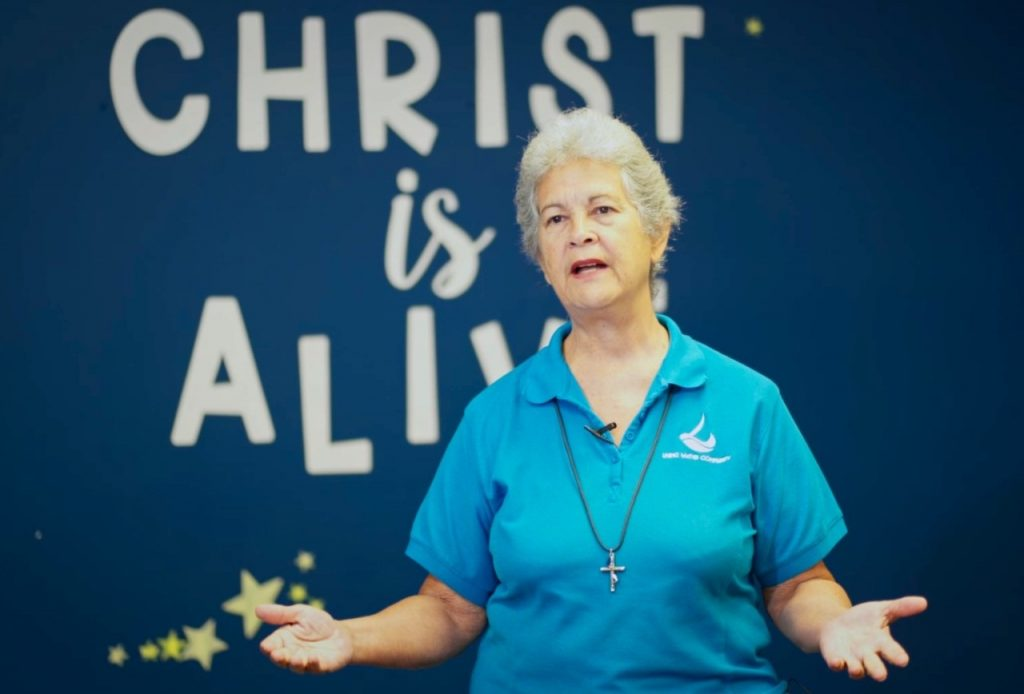Rhonda Maingot, director and founder of the Living Water Community. STILL FROM A VIDEO BY SHANNON BRITTO