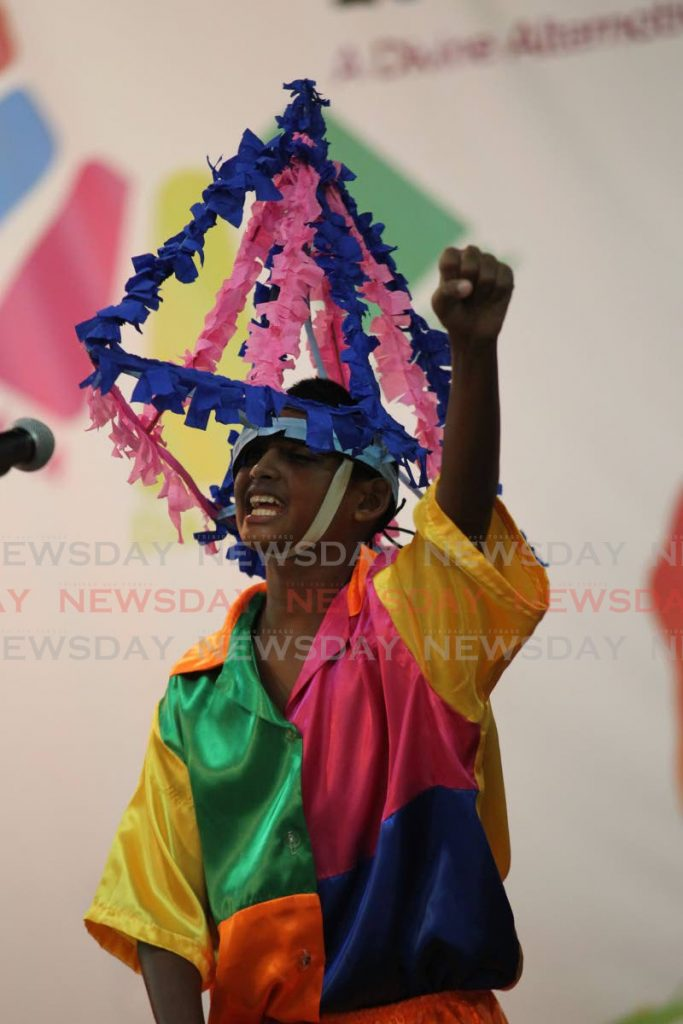 In this November 11, 2016 file photo a student of Tabaquite Secondary School performs during Sanfest in San Fernando. Drama teachers are calling on CXC to scrap the CAPE practical exam. - Lincoln Holder