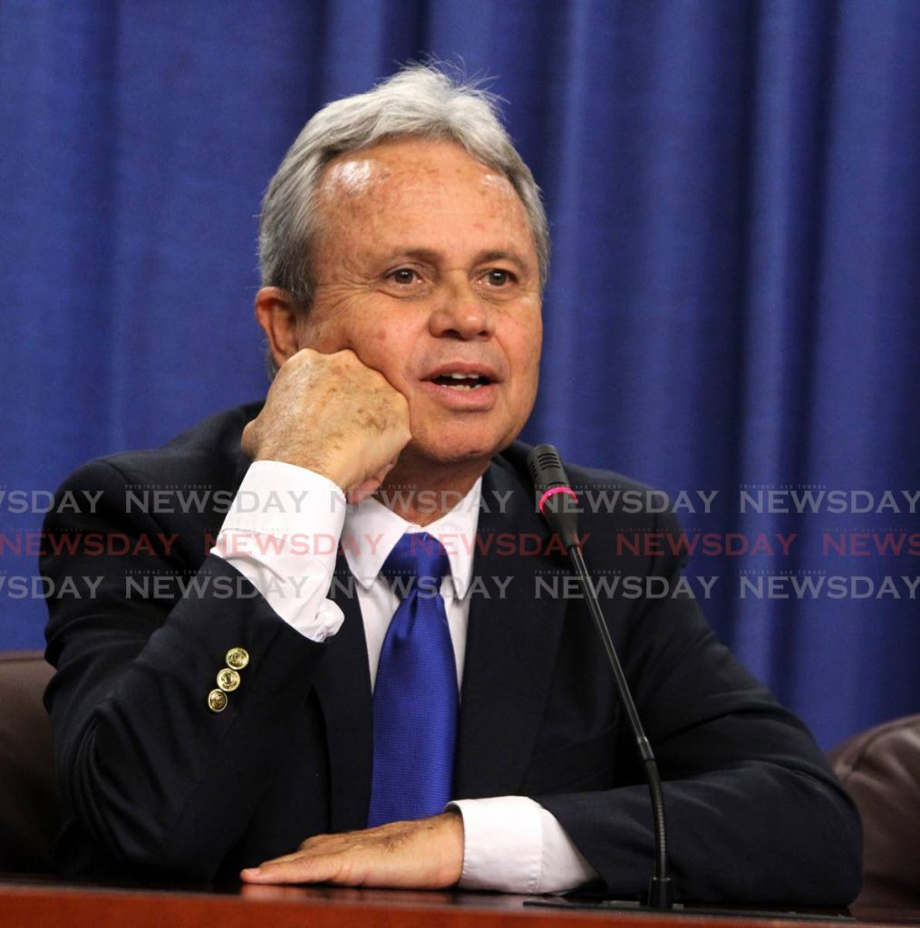 Finance Minister Colm Imbert. -