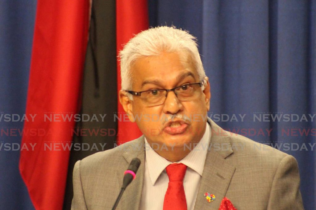 St Joseph MP and Health Minister, Terrence Deyalsingh. -