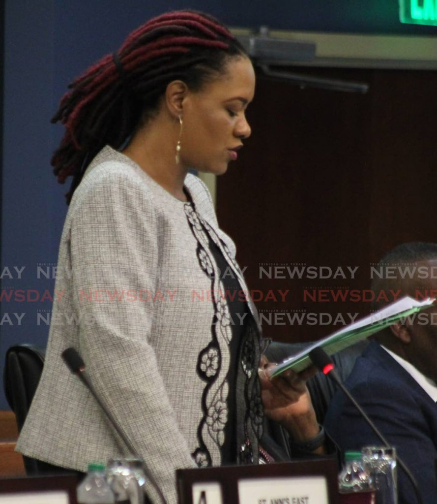 Minister in the Office of the Prime Minister, Ayanna Webster-Roy. -
