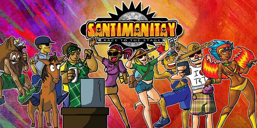 Santimanitay: Race to the Stage is an action-packed board game based around TT Carnival and comes with challenging trivia and an engaging storyline. Up to eight players can participate. -
