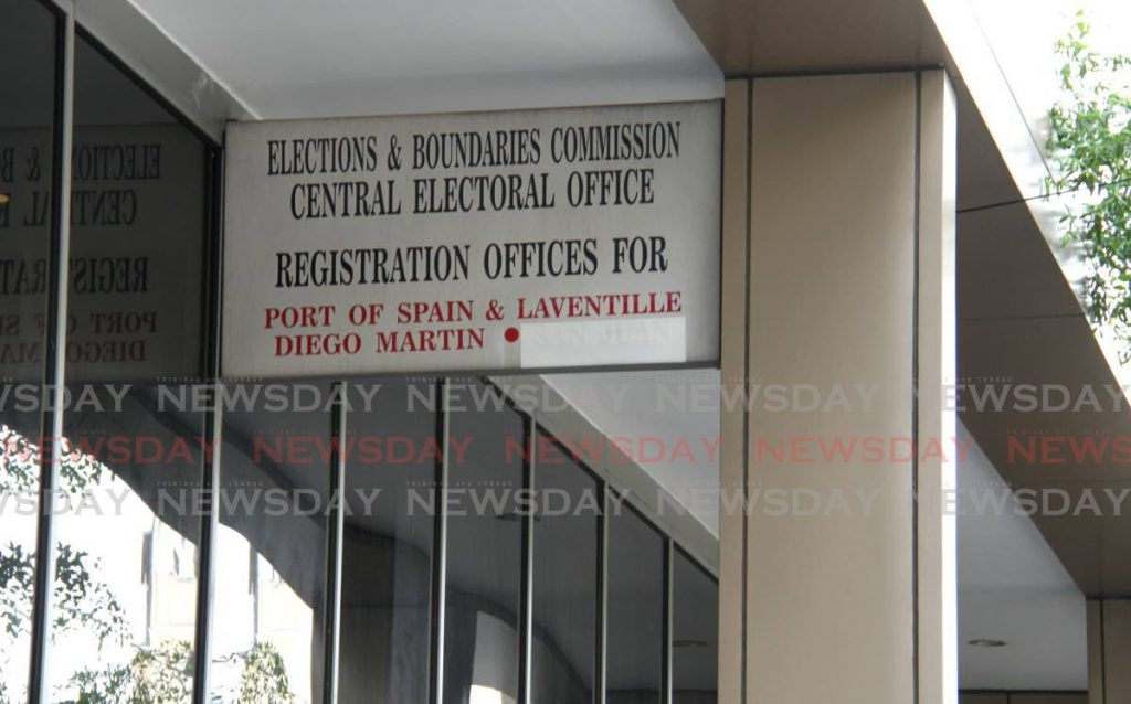 The Elections and Boundaries Commission head office, on Frederick Street, Port of Spain. - Photo by Ayanna Kinsale