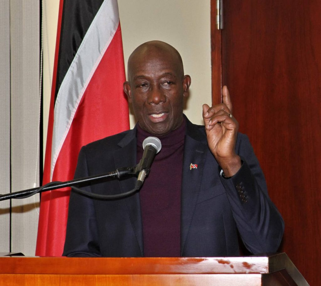 Prime Minister Dr Keith Rowley -