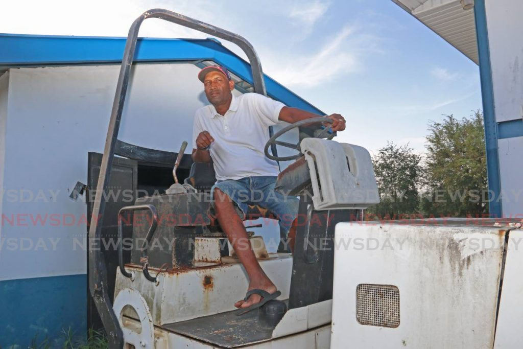 Basil Shewram, cricket pitch curator, at the Pierre Road Ground, Charlieville on Monday. PHOTO BY MARVIN HAMILTON - Marvin Hamilton