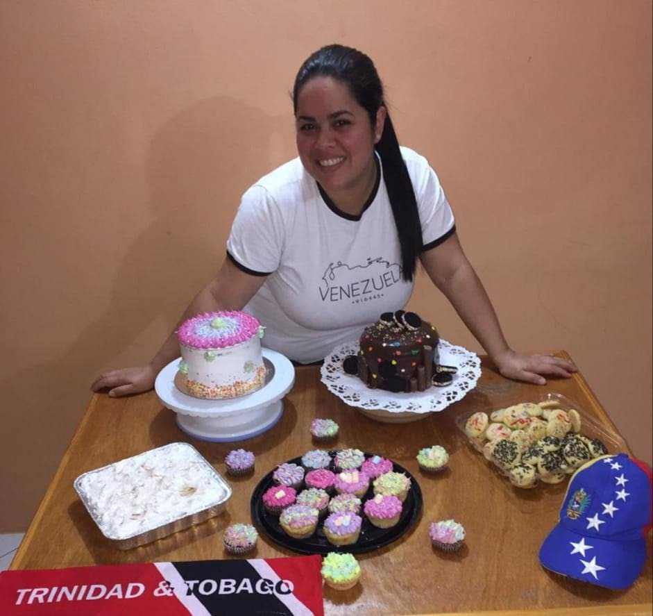 Inescar Andreina García Bastardo started her own business of selling cakes and sweets in Tobago. - Grevic Alvarado