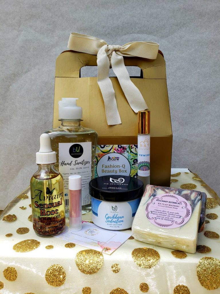 The Port of Spain Fashion Week's Fashion-Q Beauty Box will be sold during its June 6 online pop-up shop. The box will feature TT's beauty brands like Aviare Body Oils, BU Skin Treats, De Jeunesse, RayCandles and Scents, Rosemary Botanicals and The Organic Essence. -