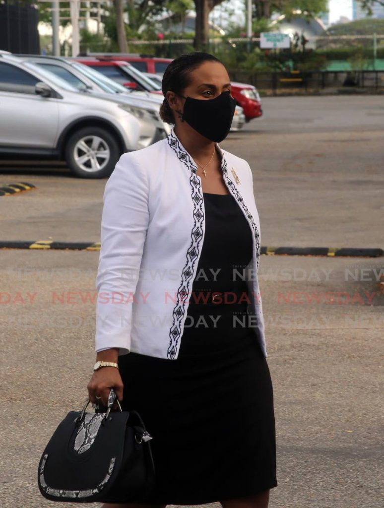 Laurel Lezama- Lee Sing - PNM Public Relations Officer arrives at Queens Hall on Thursday  to be screen for  the PNM candidate for the Lopinot/Bon Air West Constituency  - SUREASH CHOLAI