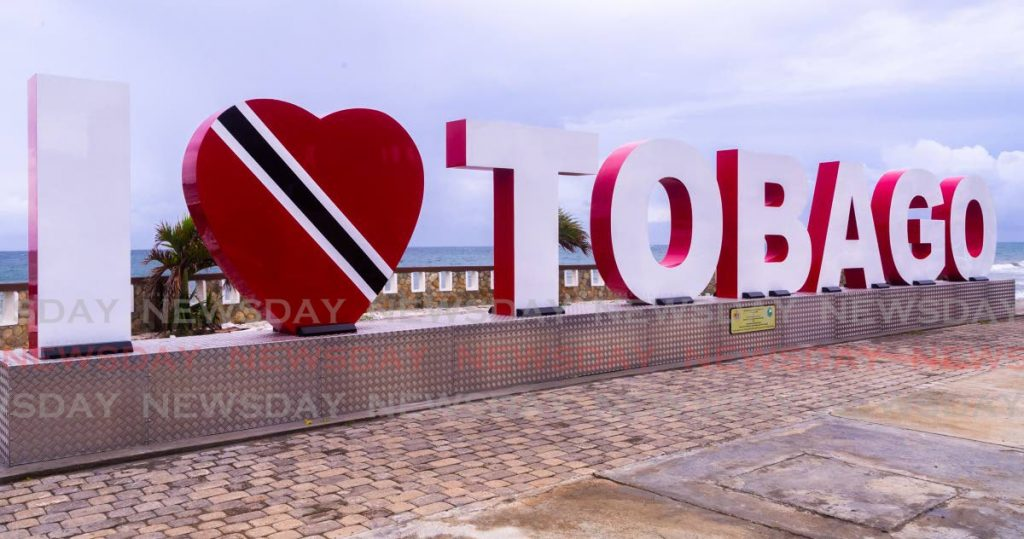 The newly-installed I Love Tobago sign at the Scarborough Esplanade. THA Secretary of Finance and the Economy Joel Jack proposed the Division of Tourism, Culture and Transportation receive $234.7 million. However Tobago Chamber of Commerce president Diane Hadad believes the tourism sector was not a priority in the presentation budget. - DAVID REID