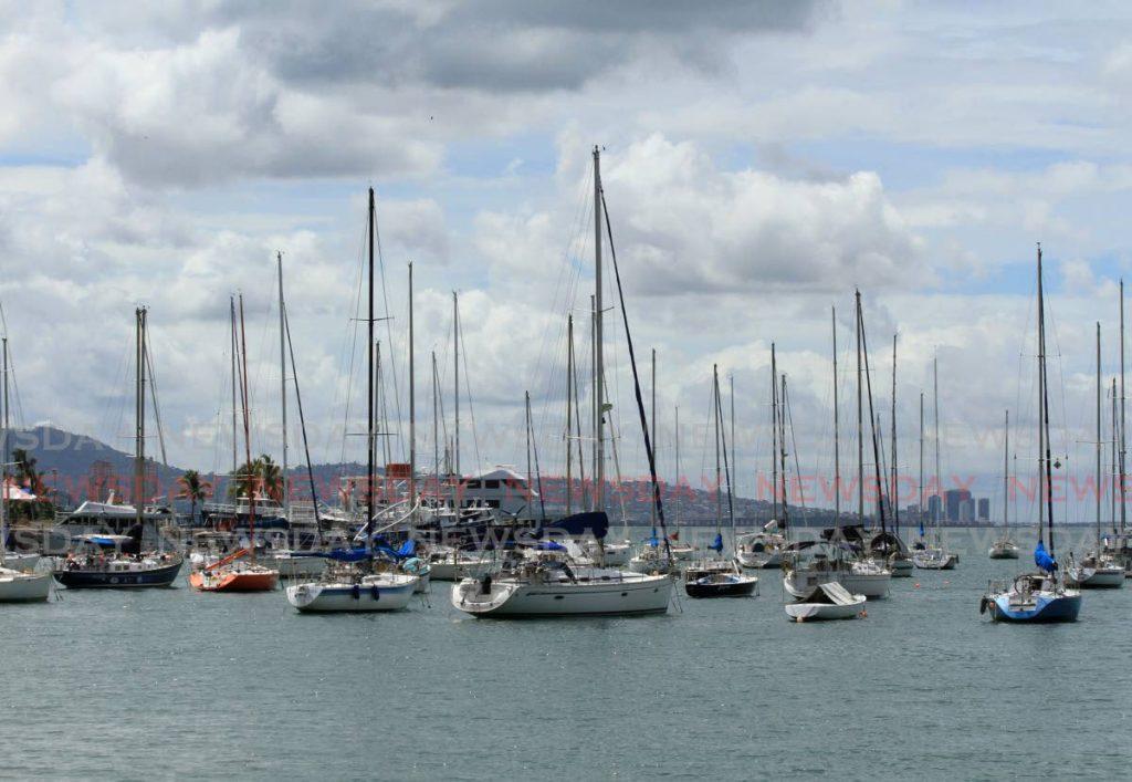 File photo,: Yachts anchored in Chaguaramas.   Photo by Ayanna Kinsale