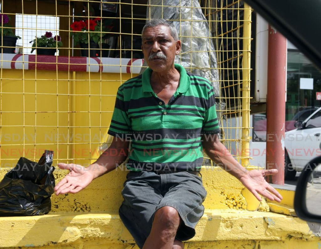 MONROE WHO?: Pensioner and PNM supporter |Ronald Sookdeo was also clueless as to who the party's candidate is.  - SUREASH CHOLAI