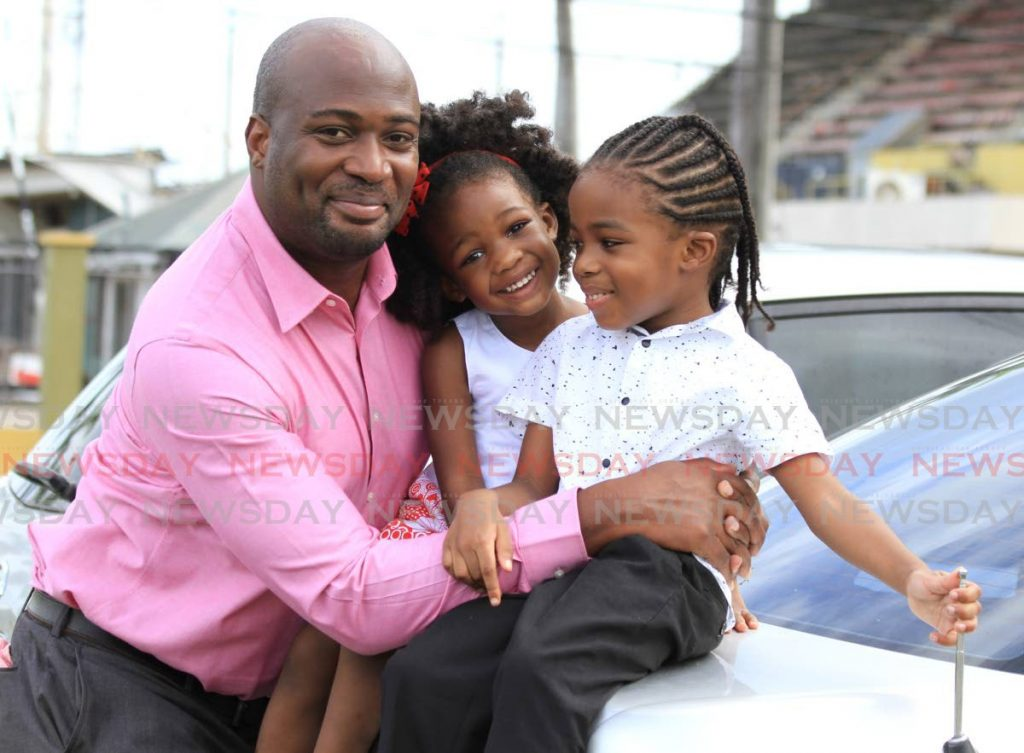 Idi Stuart, president of the TT Registered Nurses Association challenges himself to strike the right balance between work and fatherhood, and to make more time to be home with his family. - Ayanna Kinsale