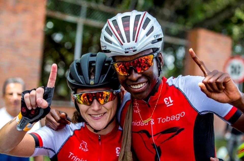 TT's women's pro cyclists, Alexi Costa, left, and Teniel Campbell. -