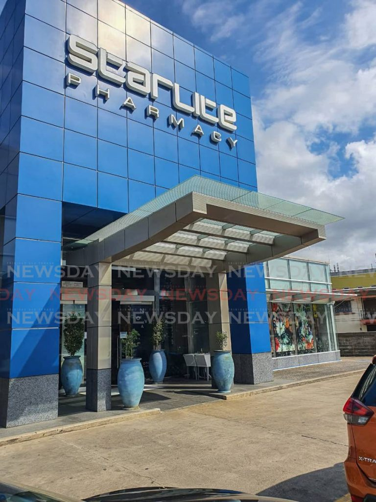 Starlite Pharmacy in Maraval. The Starlite Group managing director Gerald Aboud says a boycott over his comments on the Black Lives Matter movement is one of the factors affecting their businesses. Staff have been told their salaries will be reduced.  - Jeff K Mayers