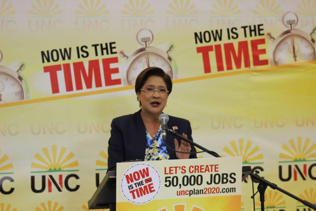 UNC political leader Kamla Persad-Bissessar   PHOTO COURTESY KEVAN GIBBS -