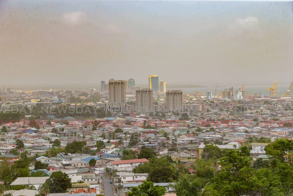 Sahara dust covering Port of Spain. FILE PHOTO
