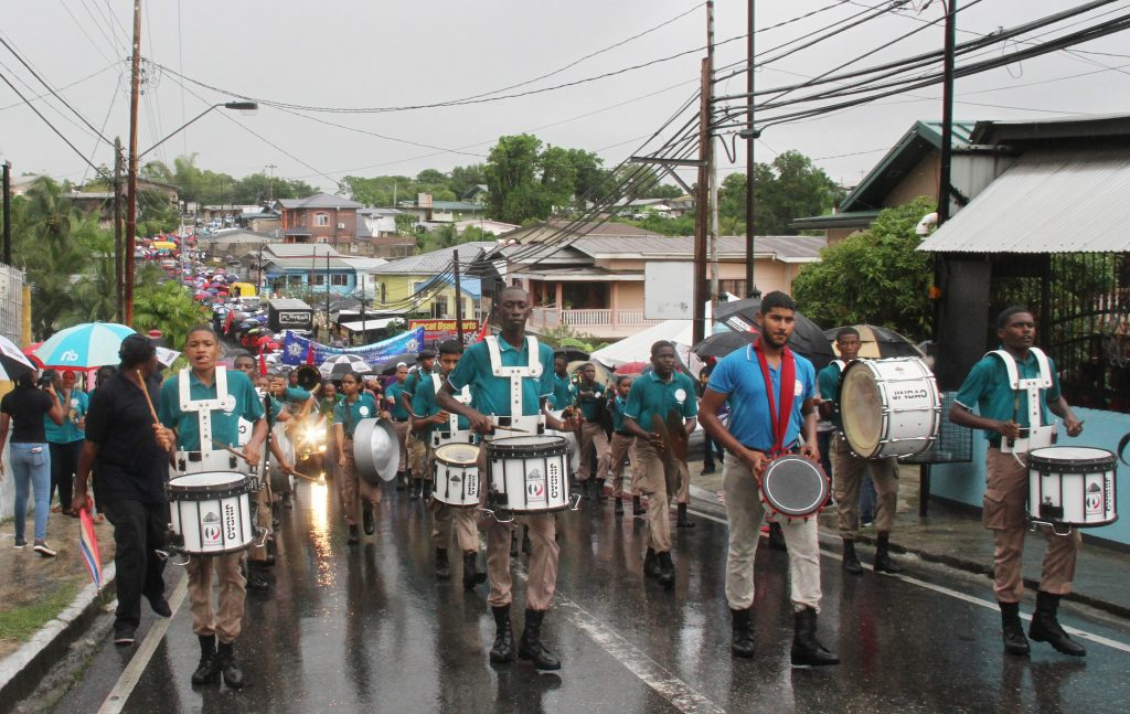 In this 2019 file photo, workers and members of the trade union movement participate in the annual Labour Day march from Avocat Junction to Charlie King Junction, Fyzabad.