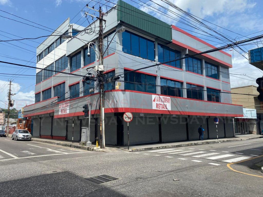 An empty Port of Spain Street at around 1 pm on Tuesday.- Carla Bridglal