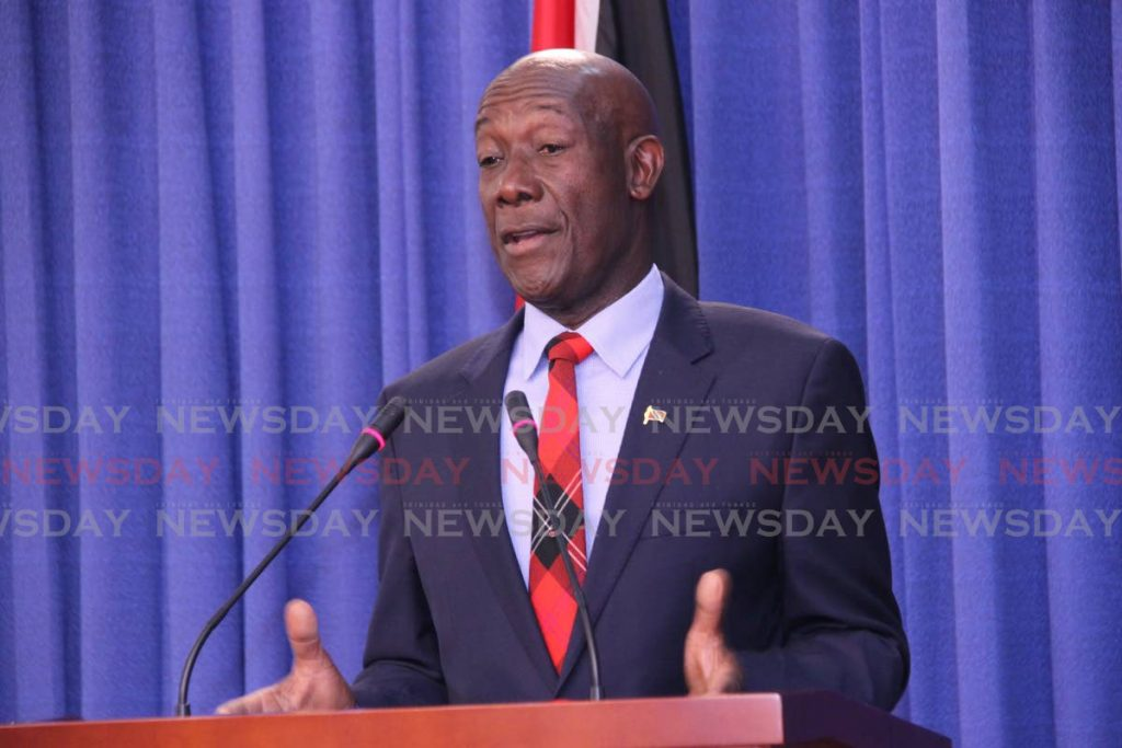 Prime Minister Dr Keith Rowley - Sureash Cholai