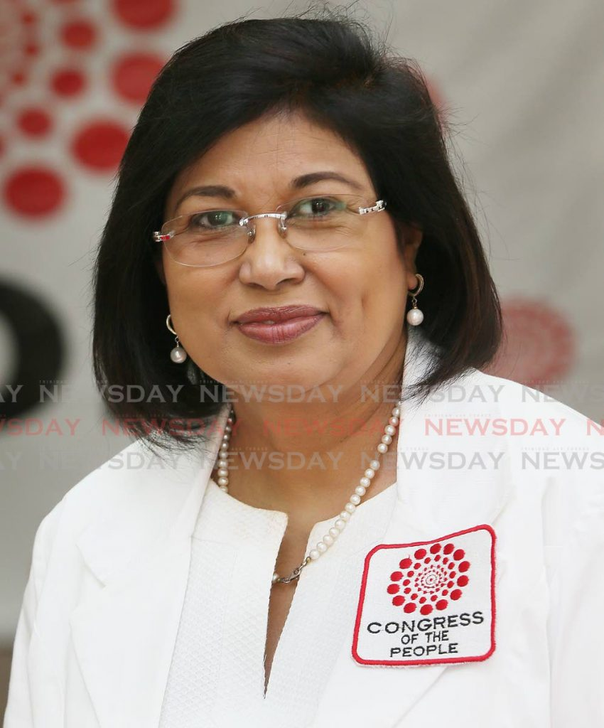 COP leader, St Augustine candidate Carolyn Seepersad-Bachan