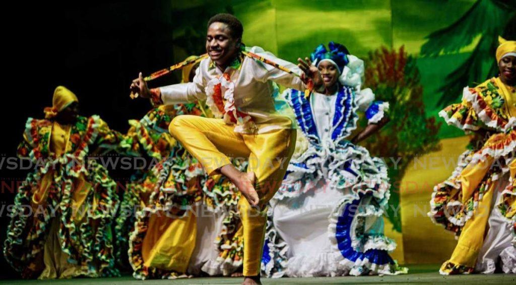 This dancer was in his element during the opening of the 2019 Tobago Heritage Festival at Shaw Park.    - DAVID REID