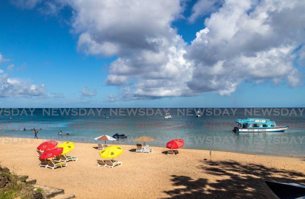 File photo of a sunny day at Store Bay beach, Tobago - JEFF K MAYERS