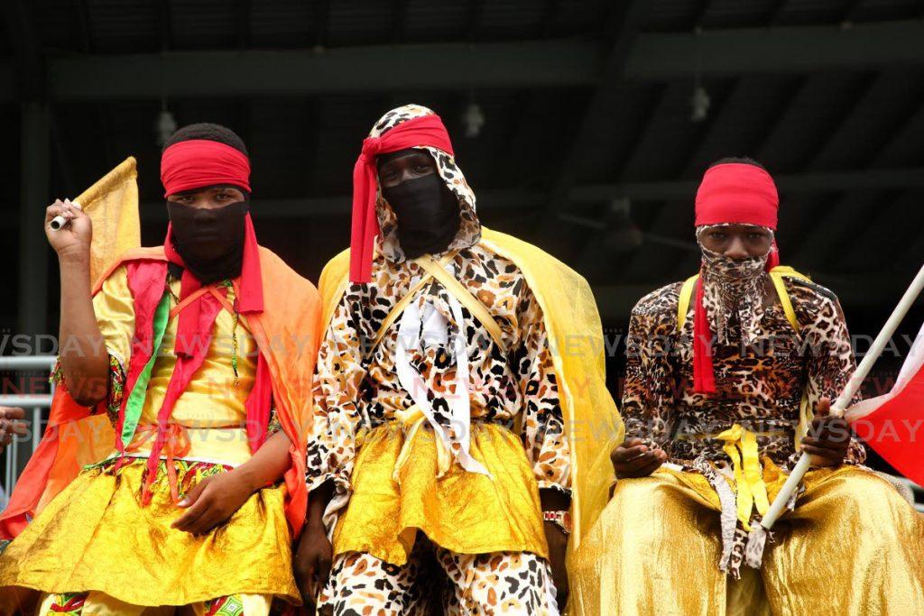 Kaisokah Moko Jumbies at the opening of the Lidj Yasu Omawale Emancipation Village at the Queen's Park Savannah last year. - SUREASH CHOLAI